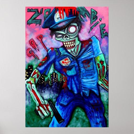 Poster del poli del zombi