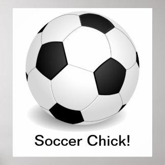 """Poster del polluelo del fútbol"" Póster"