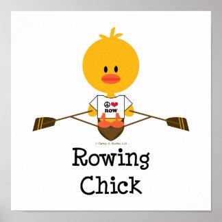 Poster del polluelo del Rowing