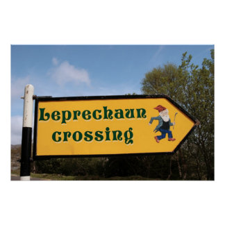 poster del poste de muestra del leprechaun