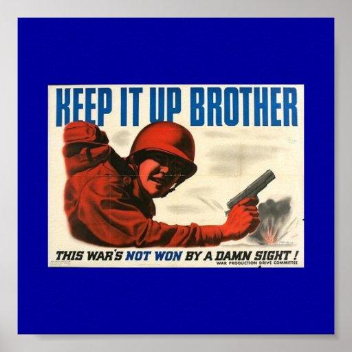 Poster del poster del vintage de WWII