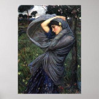 Poster del Pre-Raphaelite del Boreas de Juan W Wa
