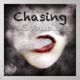 Poster del premio del Grunge de Vape de las nubes