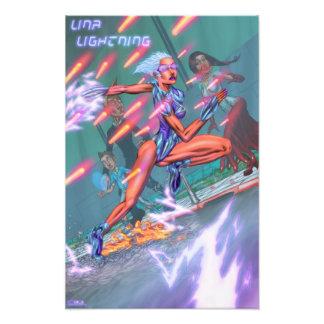 Poster del principio del relámpago de Lina (Kodak) Impresiones Fotograficas