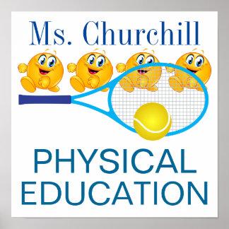 Poster del profesor de la educación física - SRF Póster