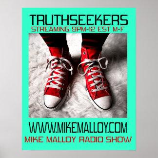 POSTER DEL PROGRAMA RADIOFÓNICO DE MIKE MALLOY