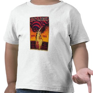 Poster del promo del fútbol camisetas
