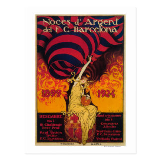 Poster del promo del fútbol tarjetas postales