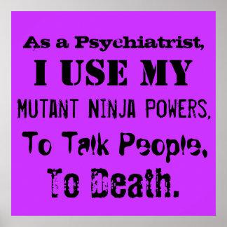 Poster del psiquiatra de Ninja del mutante