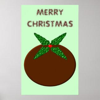 Poster del pudín del navidad póster