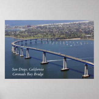 Poster del puente de la bahía de Coronado