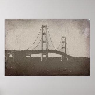 Poster del puente de Mackinac