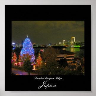 Poster del puente del arco iris en Tokio, Japón