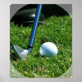 Poster del putt del golf