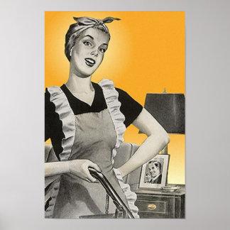 Poster del quehacer doméstico de las tareas del va