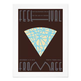 "Poster del queso de la ""vena azul"" - foto mínima cojinete"