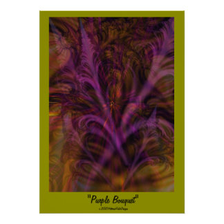 "Poster del ""ramo púrpura"""