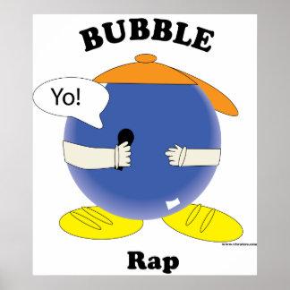 Poster del rap de la burbuja póster