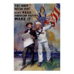 Poster del recluta de la marina de guerra de Vinag