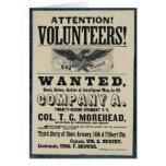 Poster del reclutamiento de la guerra civil, regim tarjeton