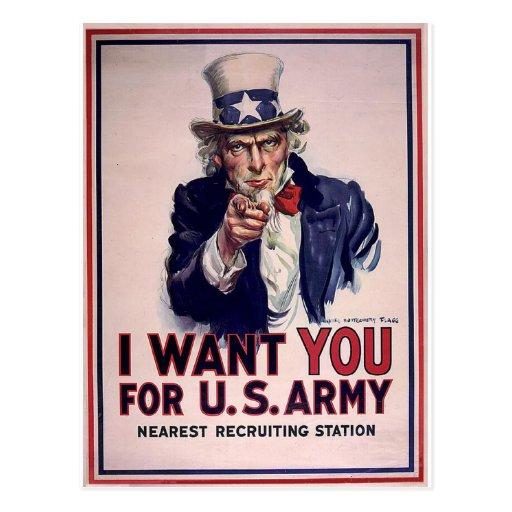 Poster del reclutamiento del tío Sam Postal