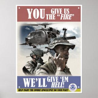 Poster del reclutamiento del vintage de la apocali