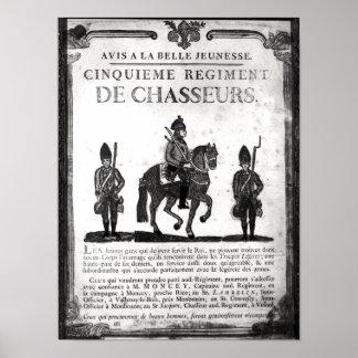 Poster del reclutamiento para el quinto regimiento