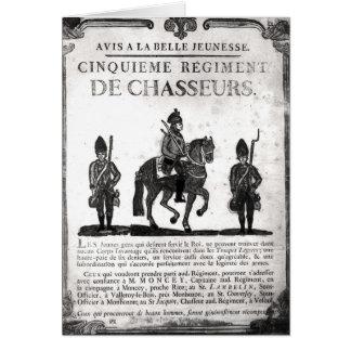 Poster del reclutamiento para el quinto regimiento felicitacion
