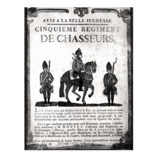 Poster del reclutamiento para el quinto regimiento postales