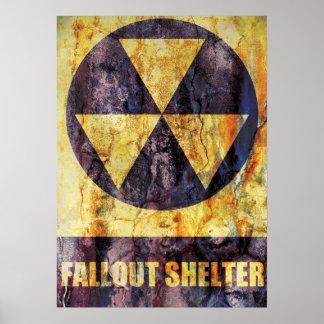 Poster del refugio de polvillo radiactivo