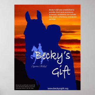 Poster del regalo de Becky