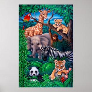 Poster del reino animal