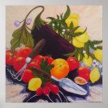 Poster del relevo de la fruta y de la verdura