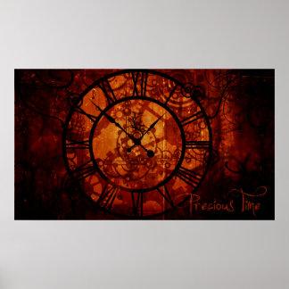 Poster del reloj de Steampunk