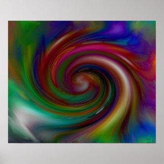 Poster del remolino del color del vórtice