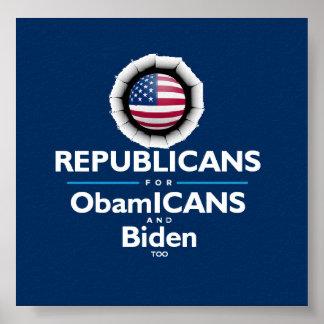 Poster del republicano de Barack Obama Joe Biden O