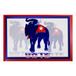 Poster del REPUBLICANO de la muestra de la yarda d