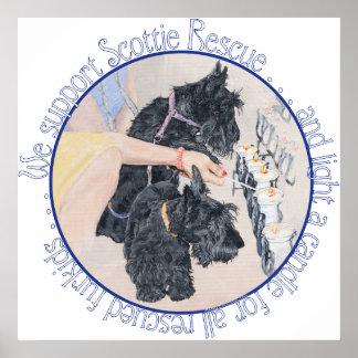 Poster del rescate de Terrier del escocés