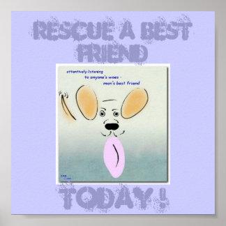 Poster del rescate del perro