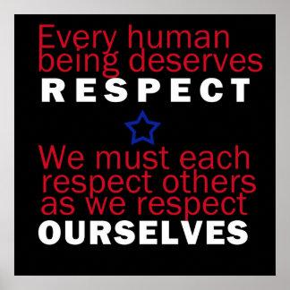 Poster del respecto nosotros mismos