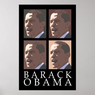 Poster del retrato de Barack Obama cuatro