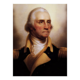 Poster del retrato de George Washington