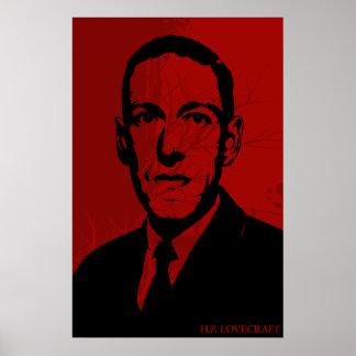 Poster del retrato de HP Lovecraft
