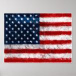 Poster del retrato de la bandera americana