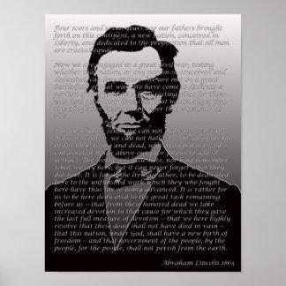 Poster del retrato de la dirección de Abraham Linc