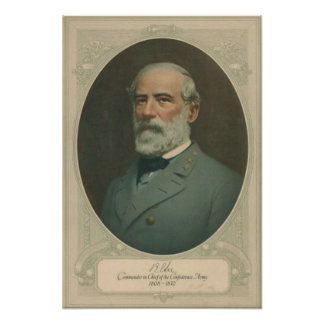 Poster del retrato de Robert E Lee