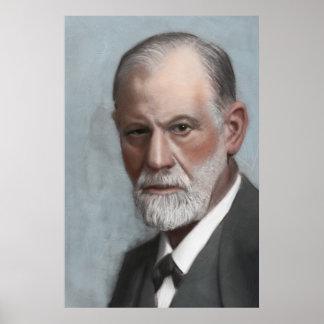 Poster del retrato del arte del psicólogo de Sigmu