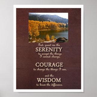 Poster del retrato del rezo de la serenidad - plan póster