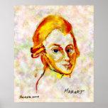 Poster del retrato uno de Mozart