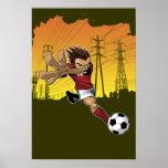 Poster del retroceso del fútbol